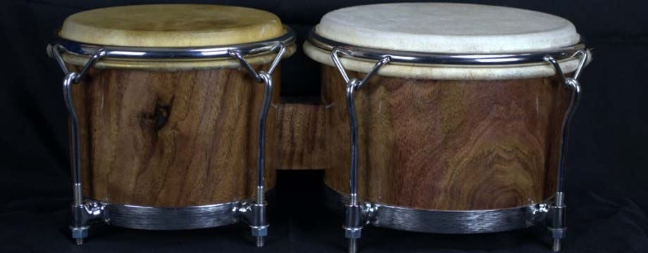 This is the first set of bongos I made, Black Walnut wood.